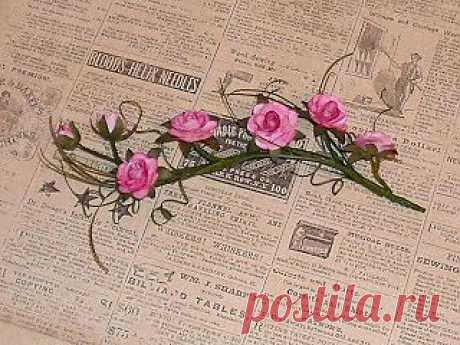 МК - веточка роз
