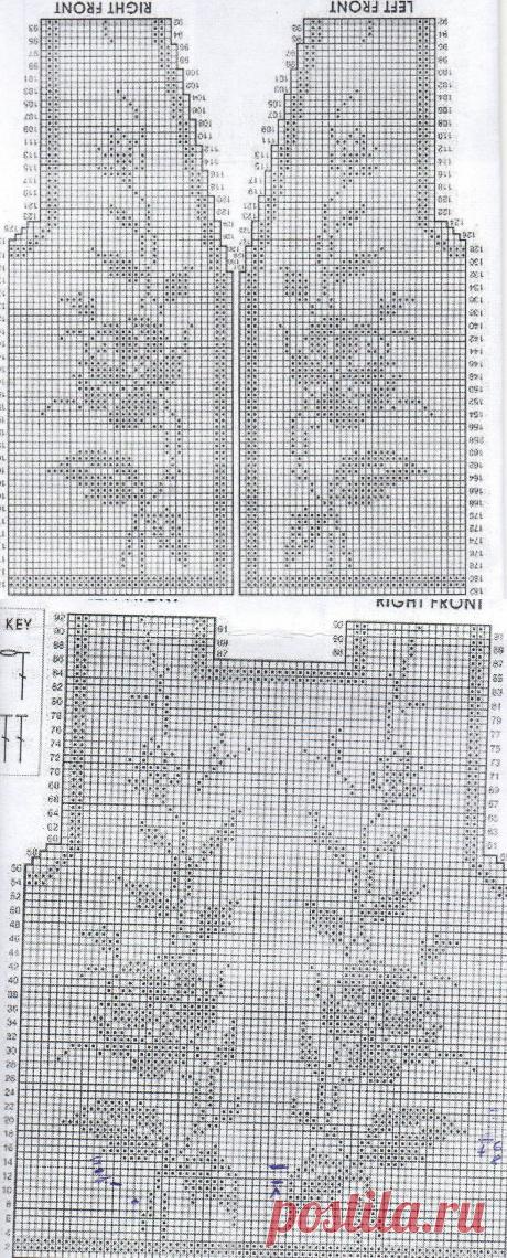 Филейное вязание крючком . — АРХИВ Наши творения -одежда в филейной технике (Обязательно подписывайте фото ) | OK.RU