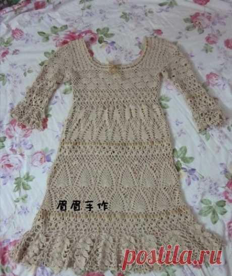 Ажурное платье крючком схемы. Вязание крючком для женщин |