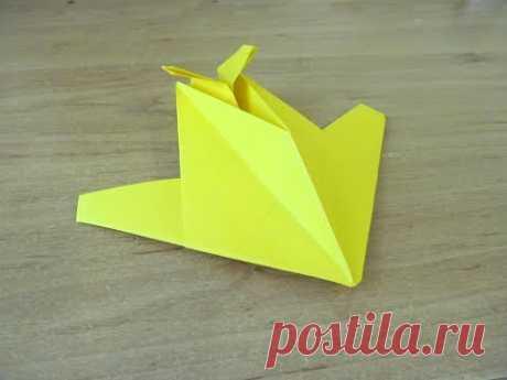 Как сделать Самолет невидимка СТЕЛСиз бумаги ОРИГАМИ Invisible paper plane F-117 STELS ORIGAMI