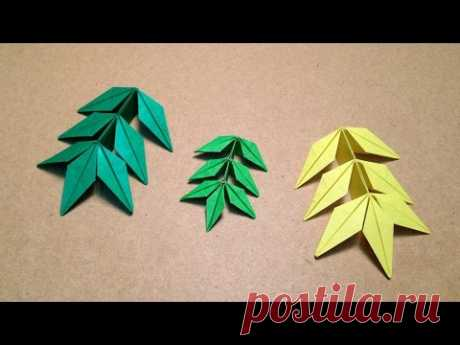 Origami Flower\/Marigold Leaf Instructions \/ (Toshikazu Kawasaki)