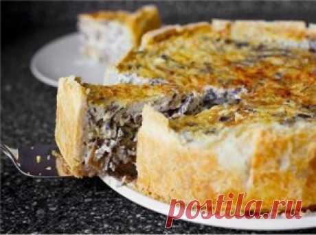 грибной пирог рецепт, пирог с грибами рецепт