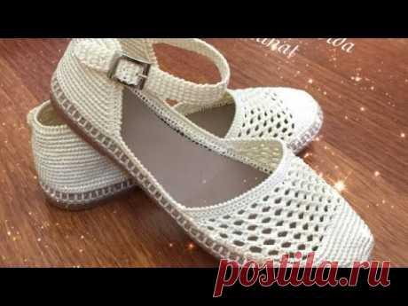 Tokalı Örgü Sandalet Yapımı 1. Bölüm #örgüayakkabıyapımı #knittingshoes #zapatos