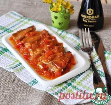 Рыба под пикантным томатным соусом