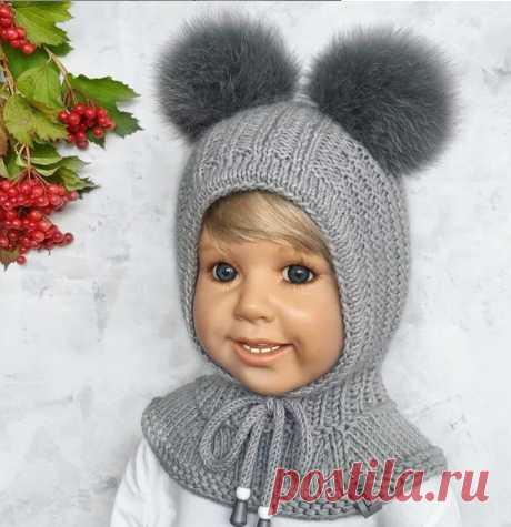 Шлем - шапка спицами для ребенка - практично и красиво! | Вишня Вяжет | Яндекс Дзен