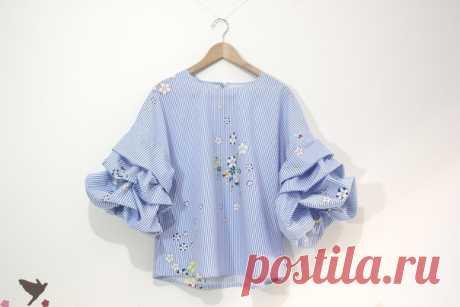 Блузка с пышным рукавом выкройка фото 175