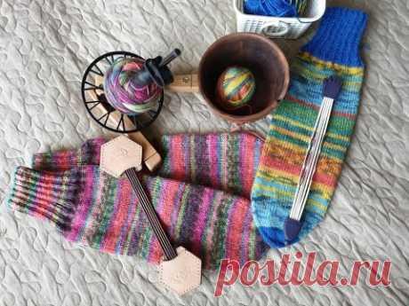 Как я вяжу носочки #1/вязание спицами