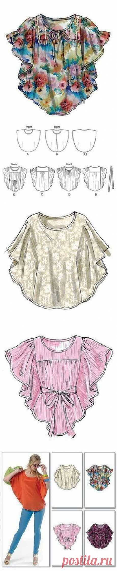 Simple pattern of a summer tunic | | we Sew Ladies' cunnings | Posted
