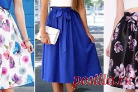 Красивую юбку на лето можно сшить своими руками! Посмотрите идеи и выкройки. – БУДЬ В ТЕМЕ