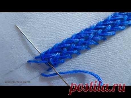 Basic Hand Embroidery Part - 41 | Plaited Braid Stitch