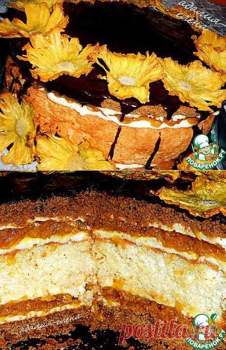 """Торт """"Леон"""" Медовые коржи, бисквит, яблоки - торт получается очень вкусным, правда, время на его приготовление придется потратить. Автор: адалия"""