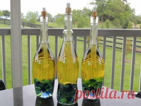 20 классных идей декора с использованием обычных бутылок