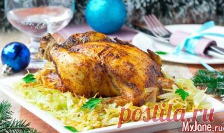 Фаршированная курица к новогоднему столу - курица, фаршированная курица, курица с яблоками, рукав для запекания