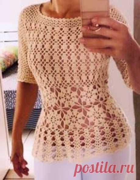 Coisas da lulucita : Blusa em crochê, marfim. Maravilhosa!!!