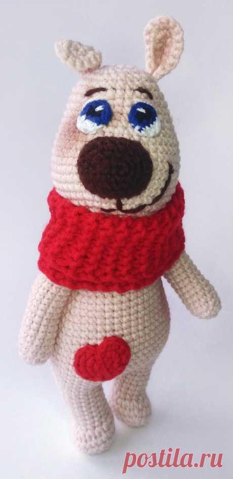 PDF Щенок Марк крючком. FREE crochet pattern; Аmigurumi doll patterns. Амигуруми схемы и описания на русском. Вязаные игрушки и поделки своими руками  #amimore - Собака, пёс, собачка, щенок, пёсик.