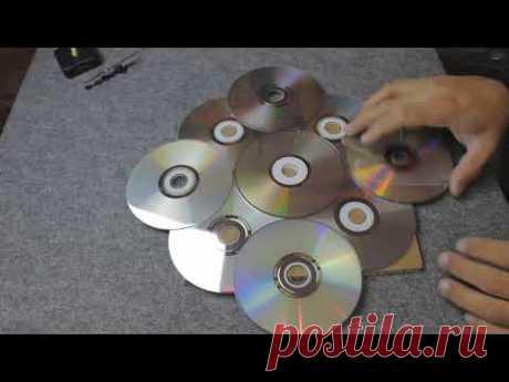 Прикольная самоделка из старых CD дисков. Полезная вещь! - YouTube