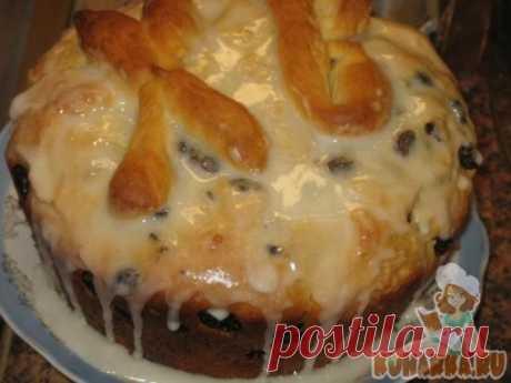 Рецепт: Кулич пасхальный (тесто ночует или днюет в холодильнике)