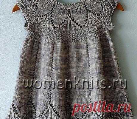 Платье для девочки спицами от 1 года