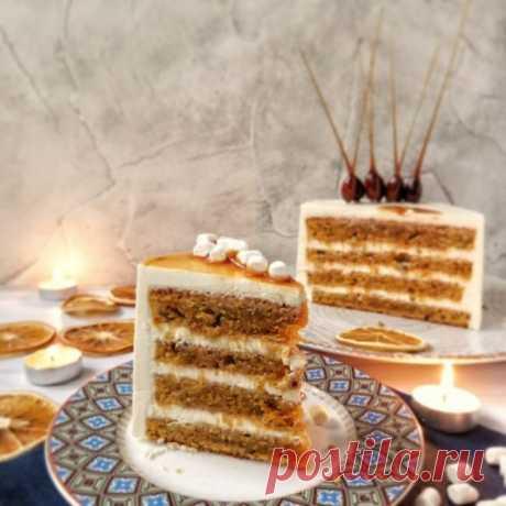 Вкусный и очень нежный морковный торт с сырным кремом | Вкусные рецепты домашней выпечки | Яндекс Дзен