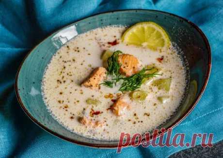 Сливочный суп с лососем - пошаговый рецепт с фото. Автор рецепта Фомина Вера . - Cookpad