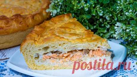Рыбный пирог с форелью из дрожжевого теста в духовке рецепт с фото пошагово и видео - 1000.menu