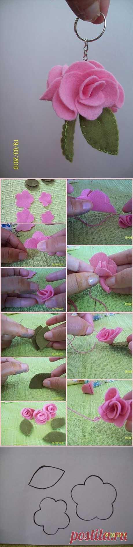 (+1) - Брелок-цветок | СВОИМИ РУКАМИ
