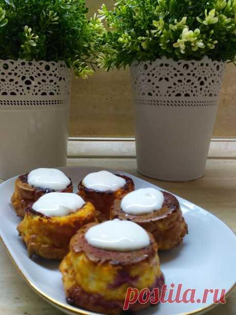 """Запеченные сырники со сливой - обалденный, ароматный завтрак для худеющих.   """"ОколоПП""""    Яндекс Дзен"""