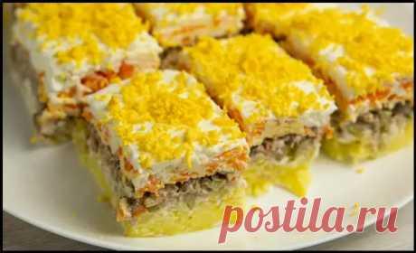 Вкусный слоеный салат «Заснеженная долина» без майонеза - необычная подача на праздничный стол! - Ваши любимые рецепты - медиаплатформа МирТесен