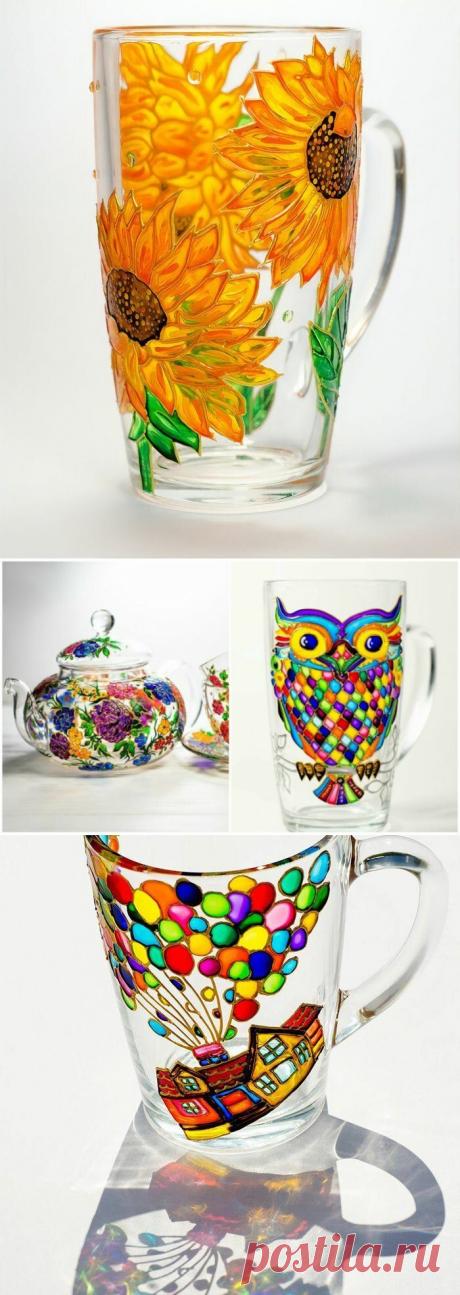 Роспись стеклянной посуды