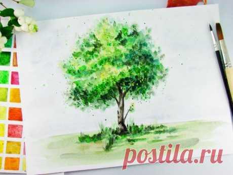 Дерево акварелью — Сделай сам, идеи для творчества - DIY Ideas
