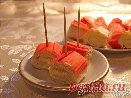 Фаршированные крабовые палочки - пошаговый рецепт с фото.