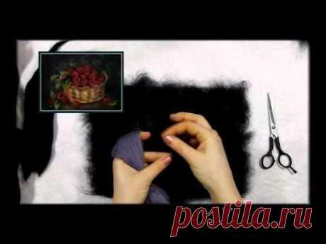 """La escuela de la pintura de lana de Jana Bogdanovoy. El cuadro de la lana """"Малинка"""""""