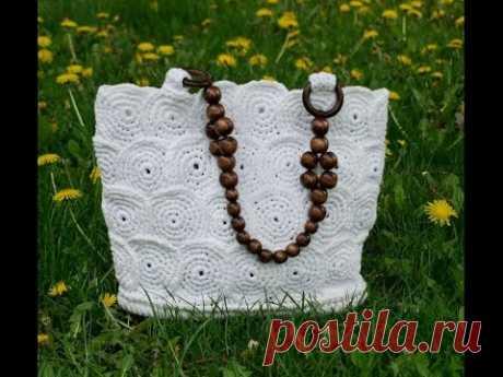 Knitting by a handbag hook - a basket ch1. Crochet handbag baskets Part 1 - YouTube