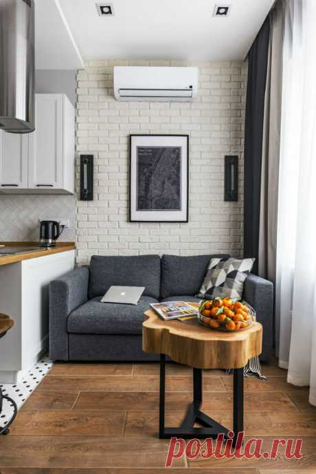 Вопреки правилам: как в студии 38 кв.м. совместили лофт и классику и сделали даже гардеробную | INMYROOM.RU | Яндекс Дзен