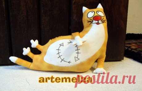 Классный кот — ограничитель для двери — Делаем руками
