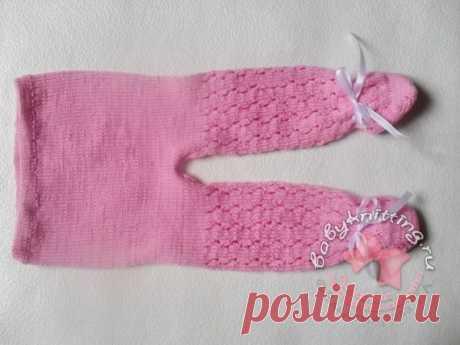 Ажурные ползунки для новорожденного спицами. Комплект «Розовые сны» часть 1 | Вяжем для самых маленьких! Дневник вязания Владимировой Татьяны.