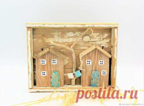 Белые домики дрифтвуд Ключ от сердца Ключ от дома 7 см – заказать на Ярмарке Мастеров – JO8B0RU | Домики, Москва