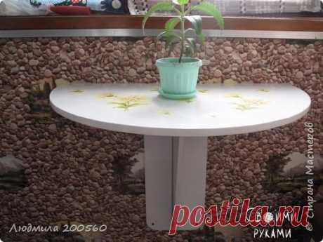Складной столик для маленького балкона. Мастер-класс