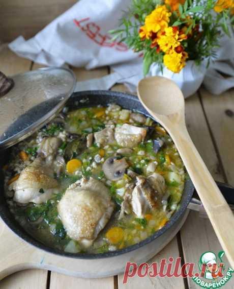 Куриный суп с перловкой и грибами – кулинарный рецепт
