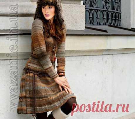 """Платье в коричневых тонах  группа """"Вязания, все со схемами""""  Чтобы не потерять жмите «поделиться»… МЕРЫ S (M) L Показать полностью…"""
