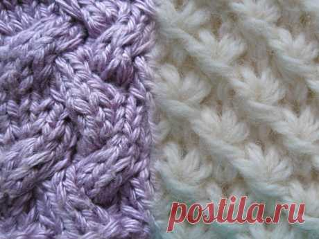 Patterns and schemes of knitting by spokes — the description