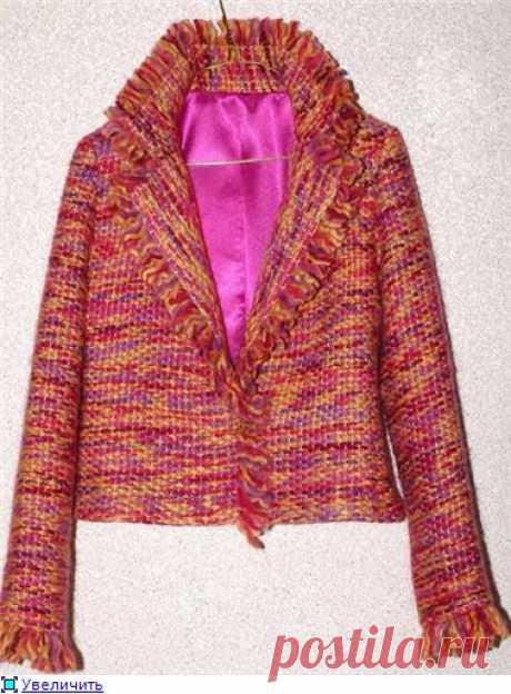 МК: Оригинальная техника. Пиджак из пряжи