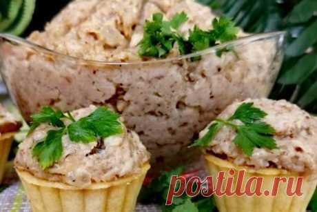 Тарталетки с грибной начинкой, паштет из грибов за 20 минут  – пошаговый рецепт с фотографиями