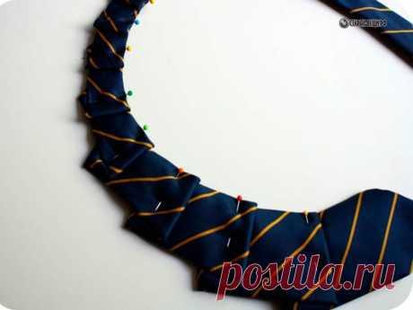 Стильные женские воротники из мужских галстуков