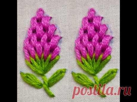 327-Portuguese border stitch modification, scattered motif