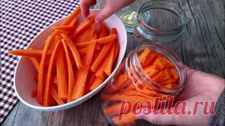 Чудо закуска: Маринованные морковные палочки за 10 мин Морковь очень полезна для зрения, но только если употреблять ее в сыром виде без термообработки. В большом количестве ее не съешь, так как она приедается. Замариновав морковку по предложенному рецепту, вы сможете сохранить все витамины, и при этом получите вкусную закуску, которую будут сметать со