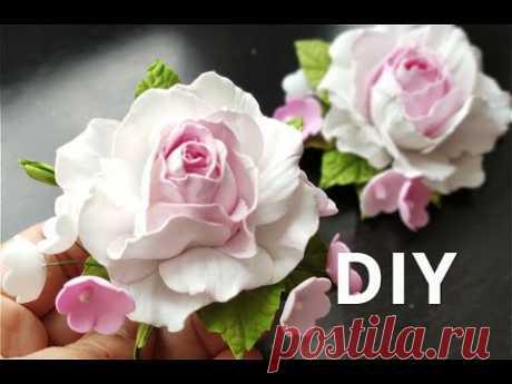 Посмотрите как быстро можно сделать Реалистичную Розу из Фоамирана