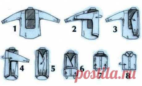 Как правильно сложить рубашку, чтобы она не мялась?