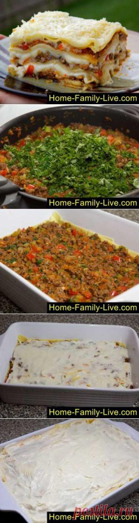 Лазанья мясная - пошаговый фоторецепт - итальянская кухня