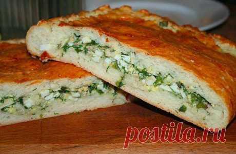 Шустрый повар.: Пирог с яйцом и зеленым луком
